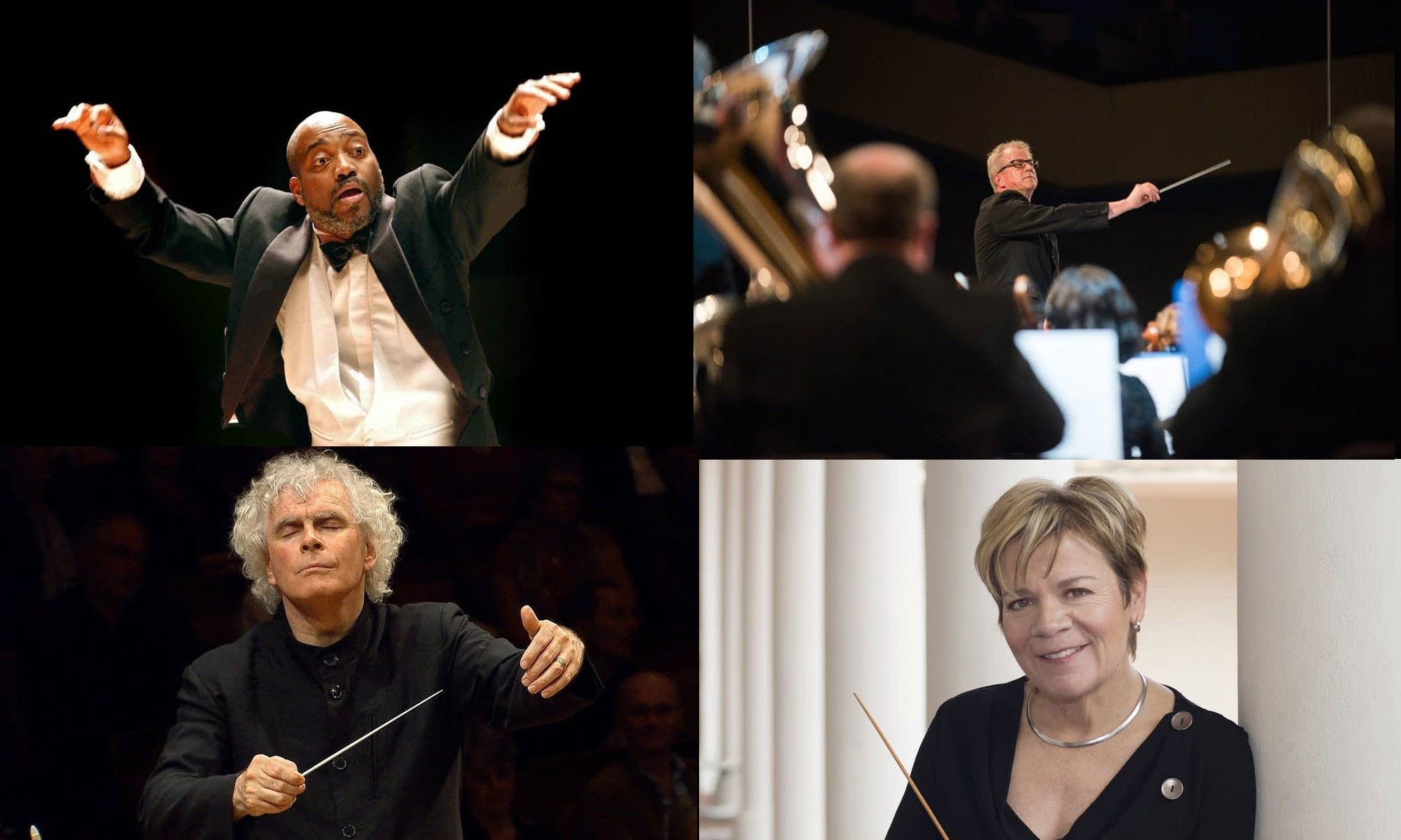 A collage of conductors