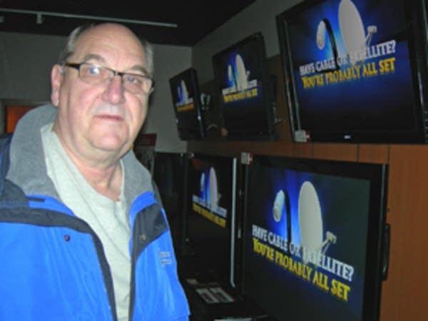 Jack Wiebke of Farmington checks out some TVs.