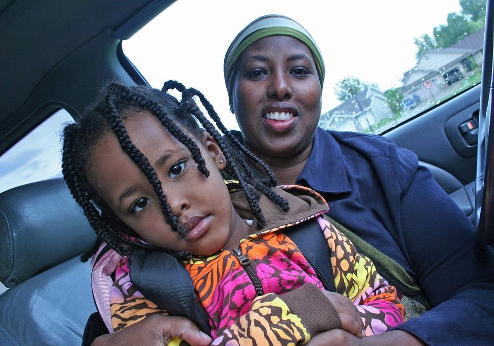 Lul Omar and her daughter