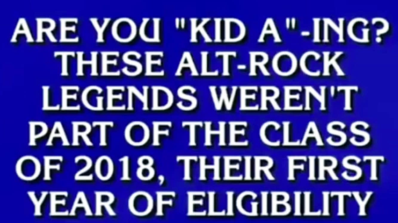 A 'Jeopardy!' question about a popular indie rock band.