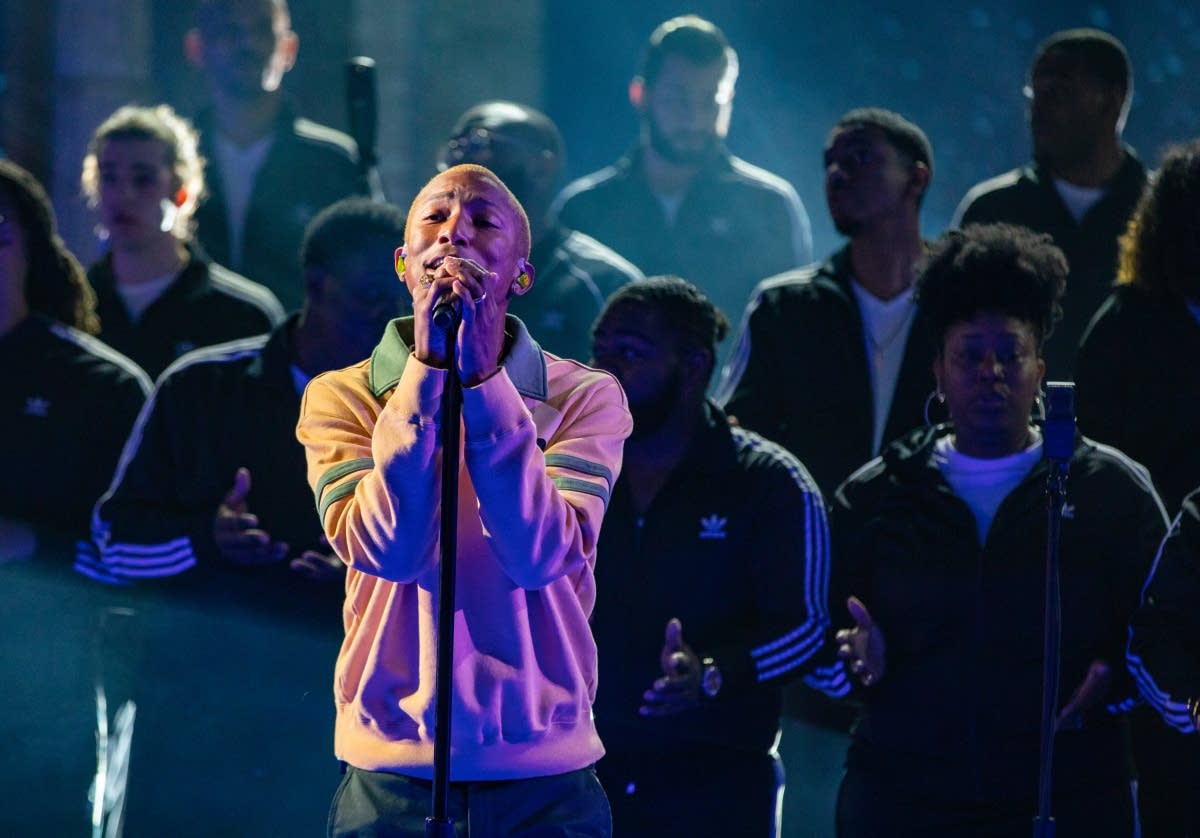 Pharrell Williams on 'The Late Show with Stephen Colbert'