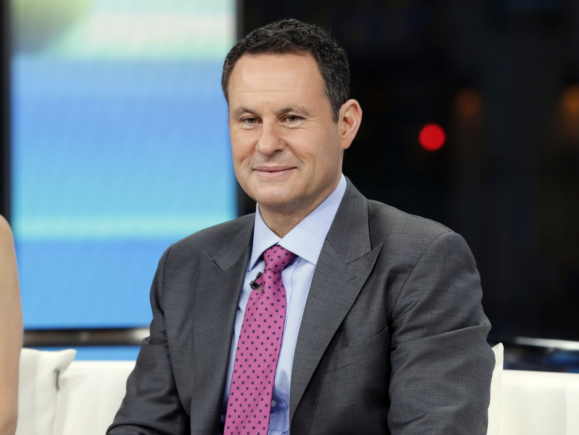 Co-host Brian Kilmeade on the set of