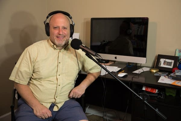 Al Levin, host of The Depression Files podcast, sits for a portrait.