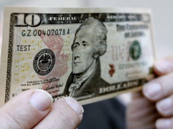 A U.S. $10 bill