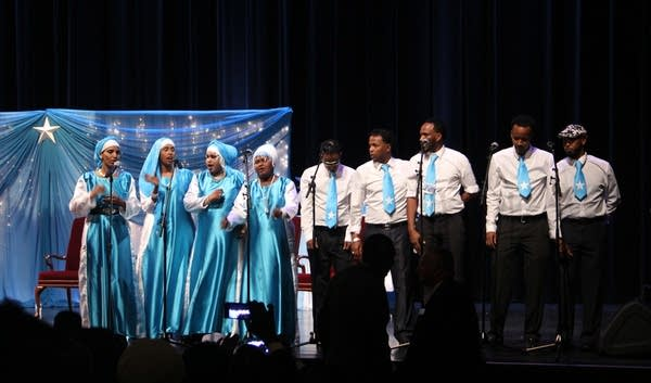 Singers entertain the audience at Northrop