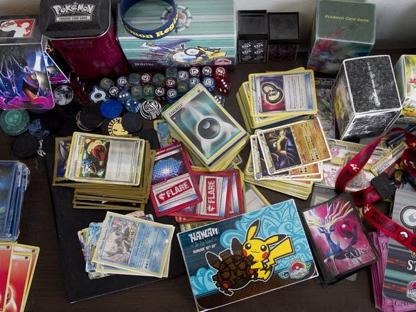 Pokemon trading cards and other merchandise