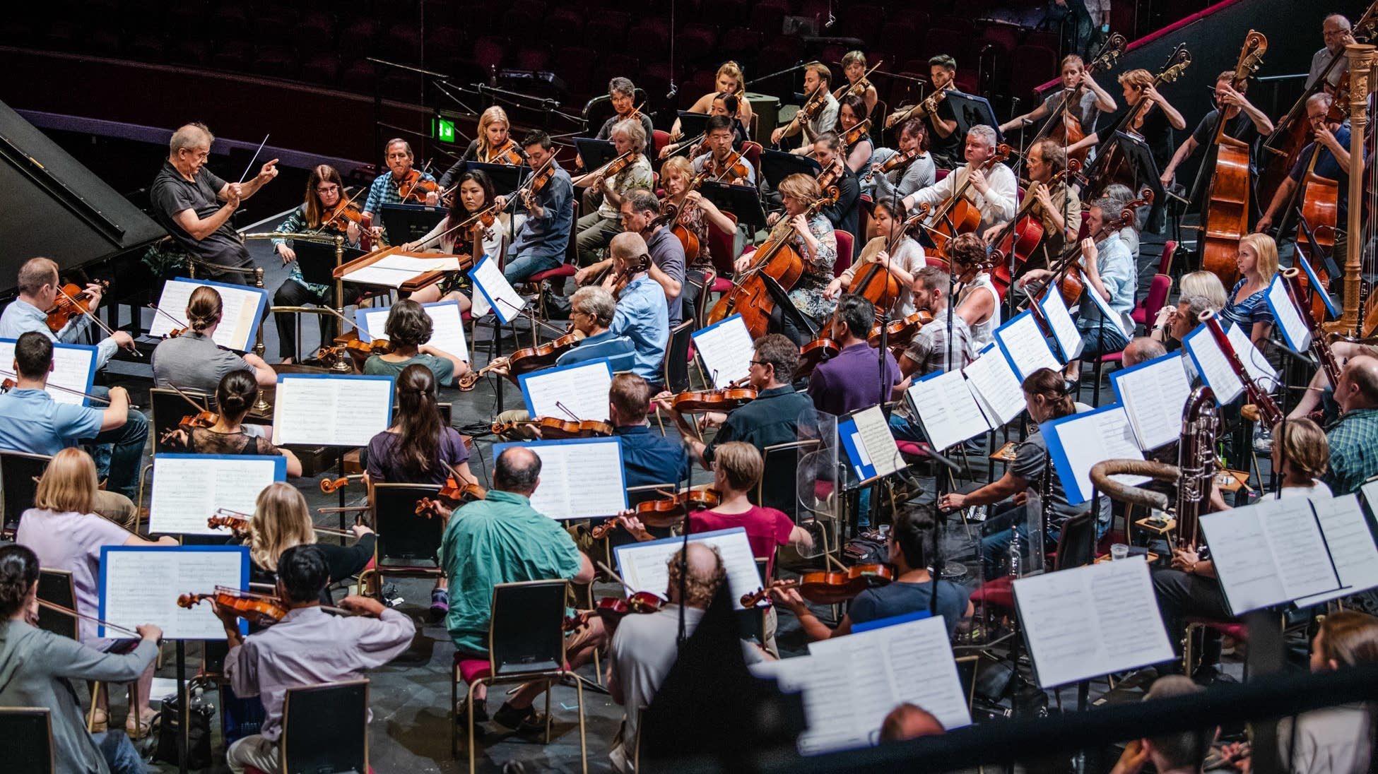 The Minnesota Orchestra rehearses for the BBC Proms