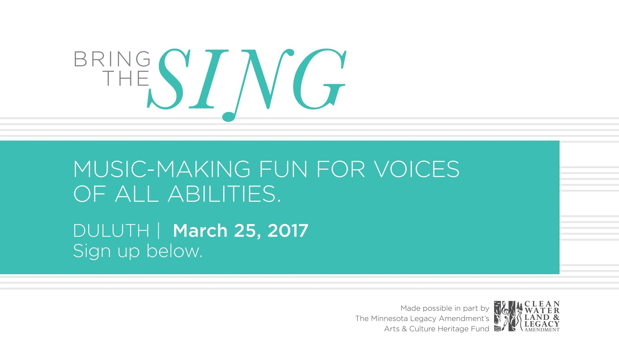 Bring the Sing Duluth - 2017