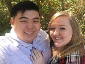David Quach and Liz Horsch are getting married Super Bowl weekend.