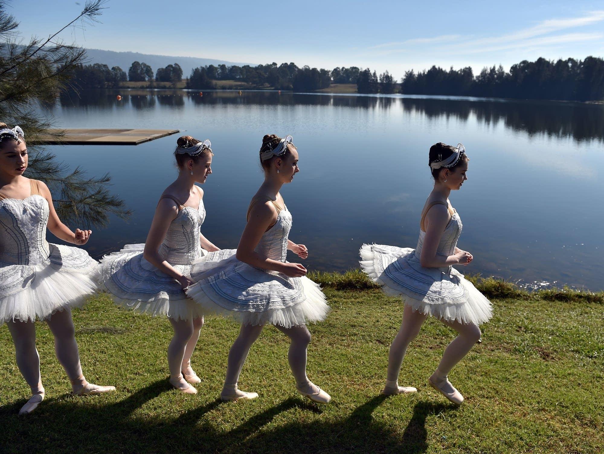 Australian Ballet dancers in Penrith Lakes