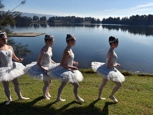 Australian Ballet dancers in Penrith Lakes