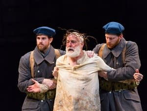 Tyler Miller, Stephen Yoakam and Kevin Gotch in King Lear.