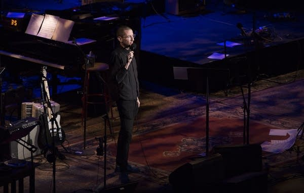 Neal Brennan performs stand up