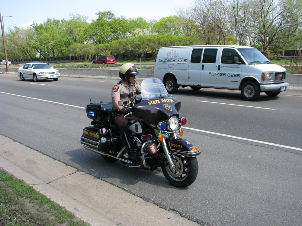 Minnesota State Patrol motorcycle