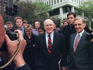 Minn. AG Hubert Humphrey III, Blue Cross-Blue Shield CEO Andy Czajkowski