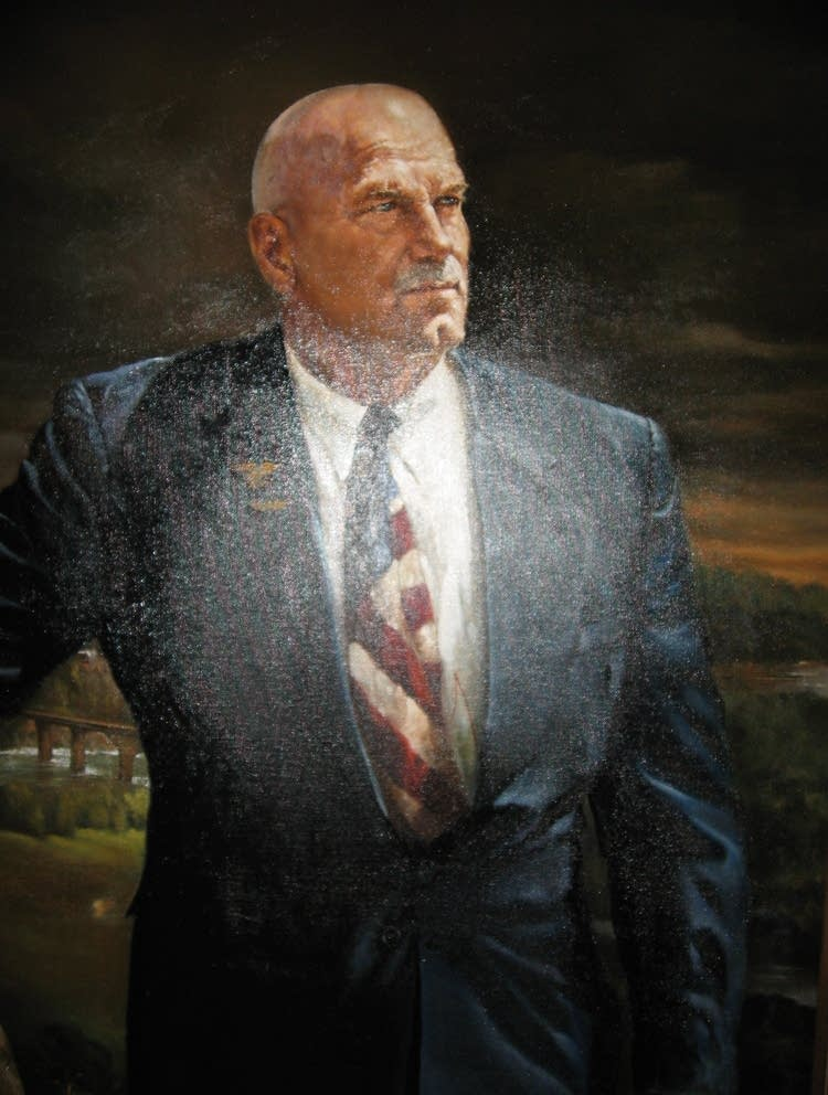 Damaged Jesse Ventura portrait