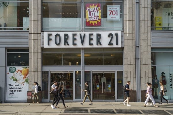 A Forever 21 store stands in Union Square in Manhattan.