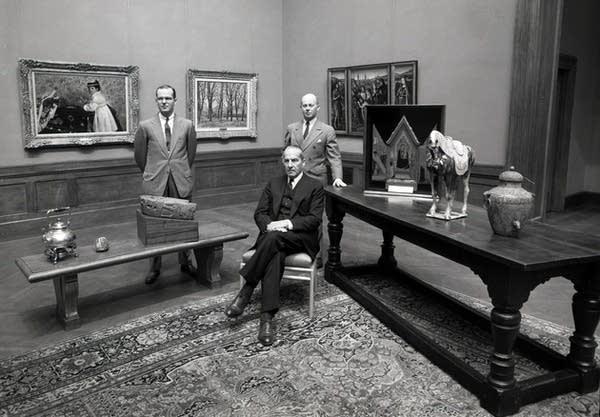 Bruce Dayton, left, then MIA board president