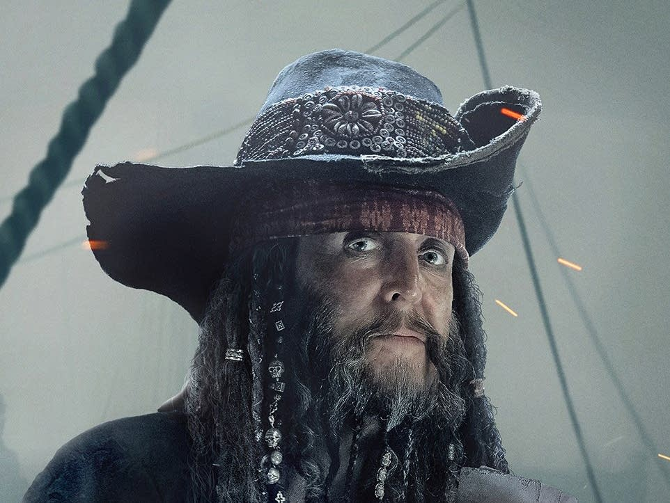 Paul McCartney on a promotional 'Pirates of the Caribbean' poster
