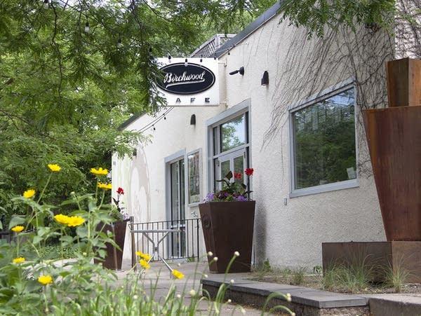 Entrance of Birchwood Cafe in Minneapolis.