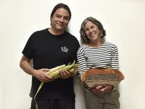 Chef Sean Sherman and cookbook author Beth Dooley.