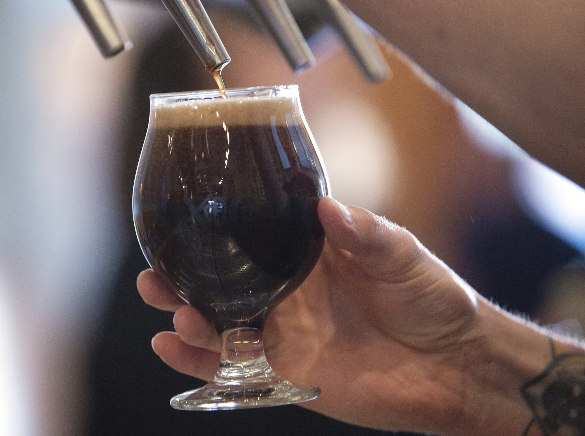 The raspberry chocolate truffle is a collaboration with Fargo Brewing.