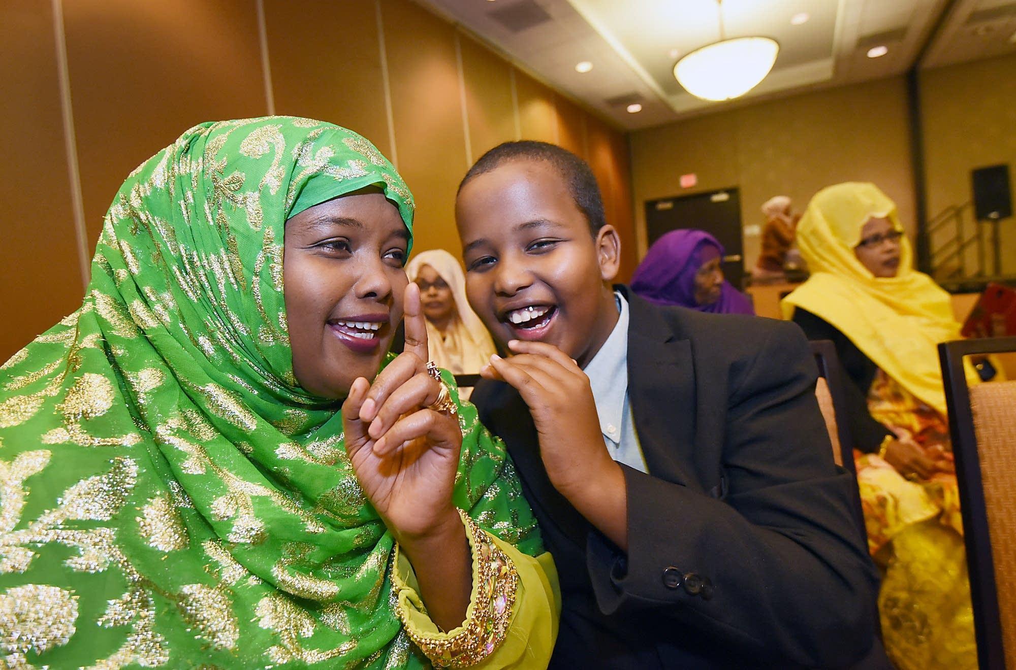 Omar's family celebrates