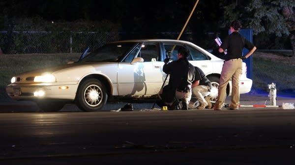 Investigators on the scene.