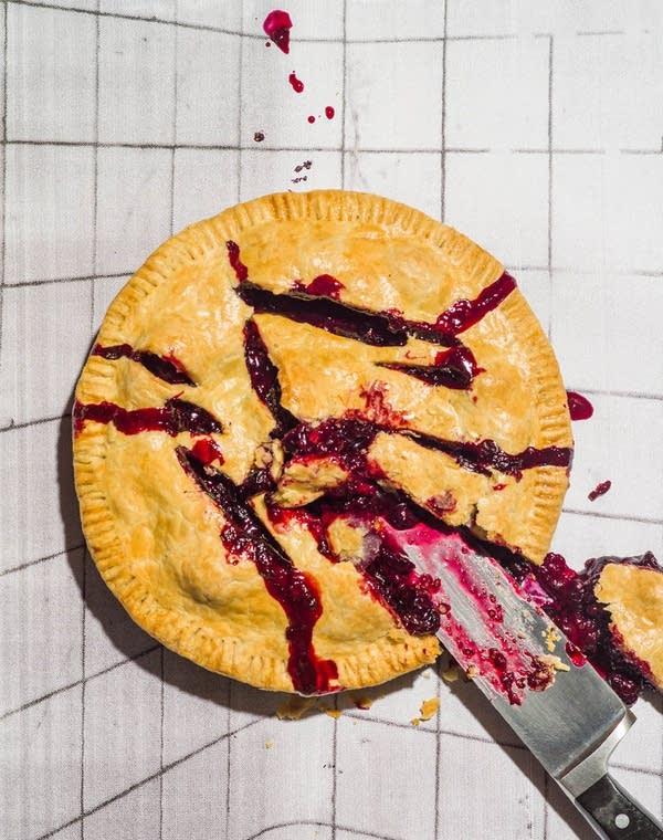 Slashed Black & Blueberry Pie