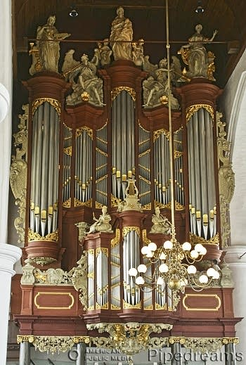 1727 Müller organ at Jacobijnerkerk, Leeuwarden, The Netherlands