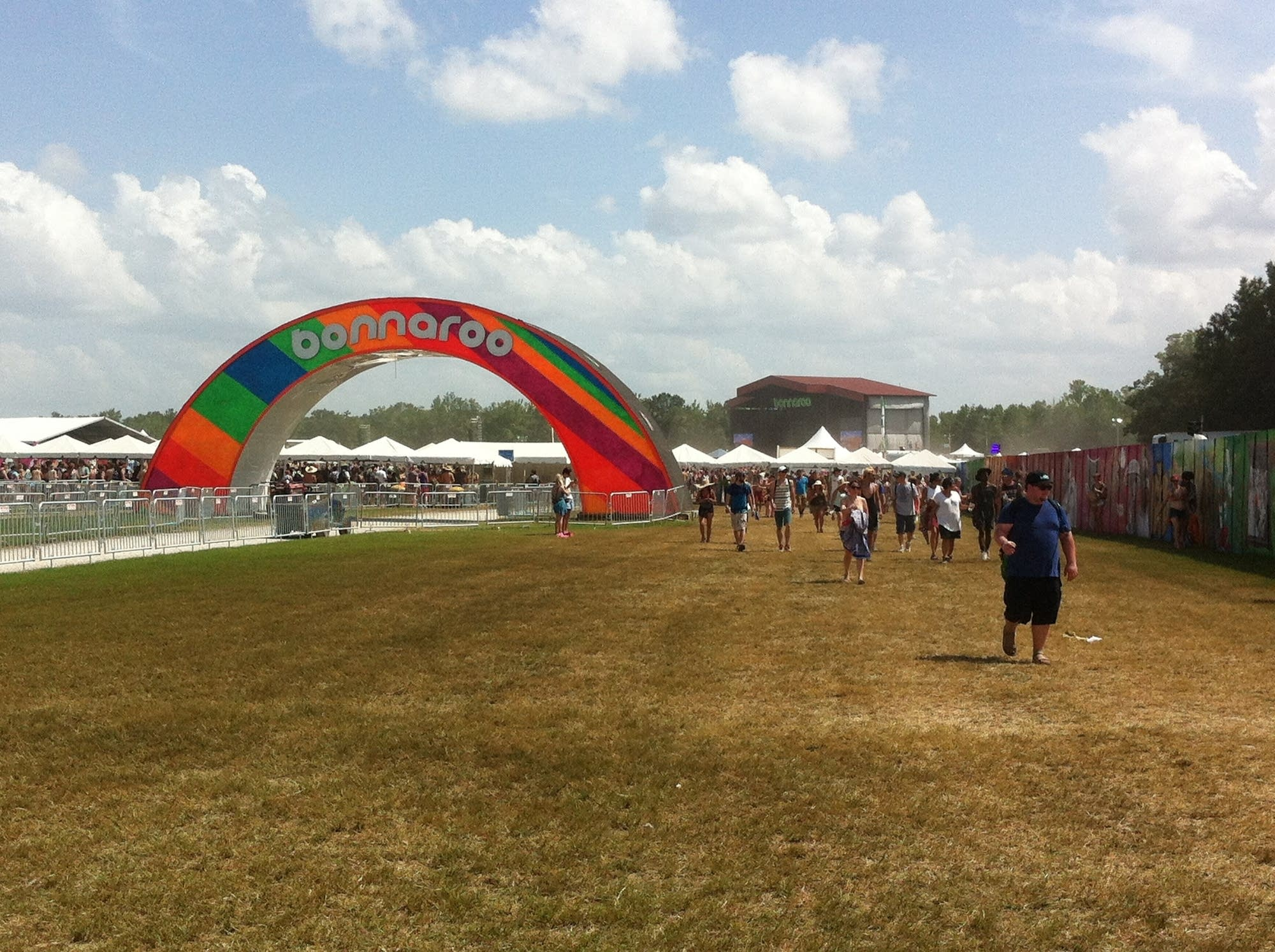 The Bonnaroo arch