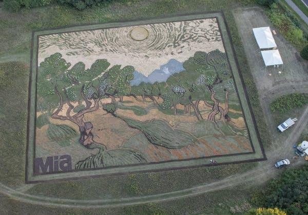 Completed crop art