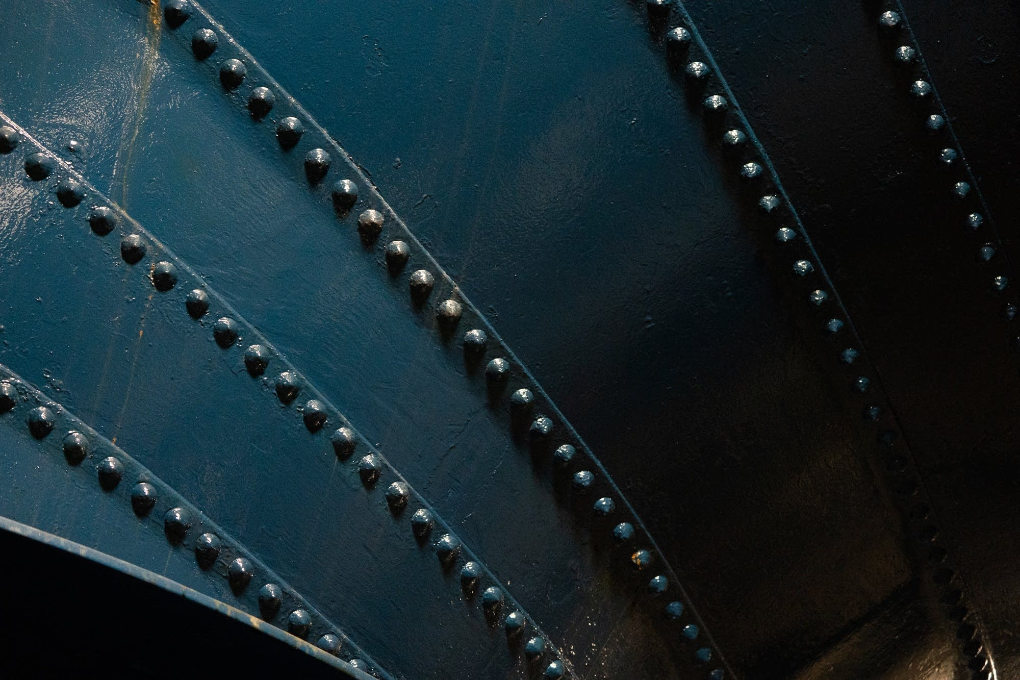 Rivets hold one of the 5 water intakes together.