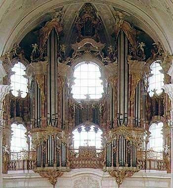 1750 Gabler organ at Weingarten Abbey, Germany