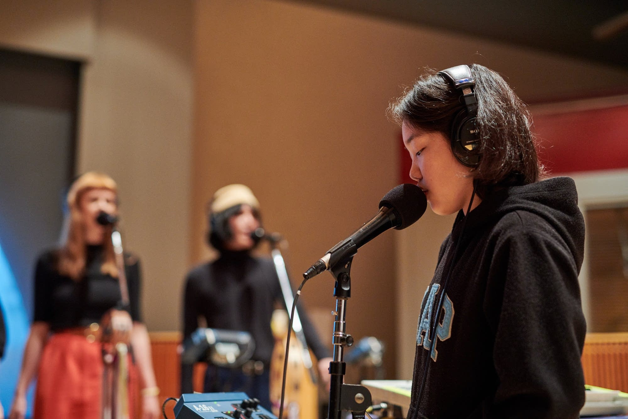 Superorganism perform in The Current studio