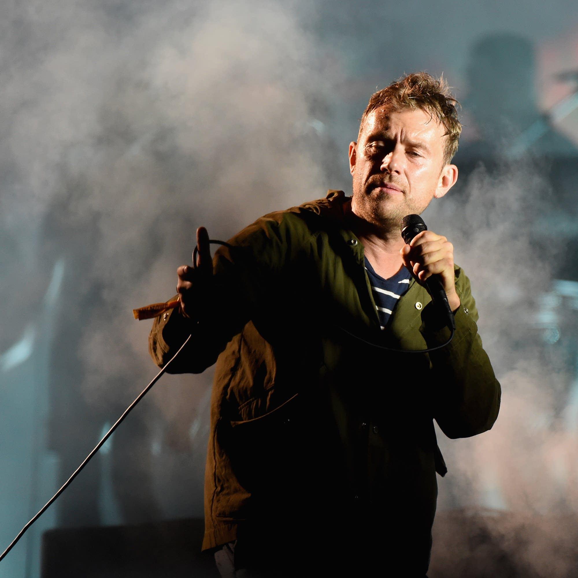 Damon Albarn performs with Gorillaz in 2017.