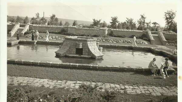 The historic Olcott Park Fountain in Virginia, Minn.