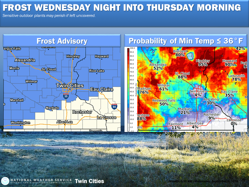 Frost and freeze advisories