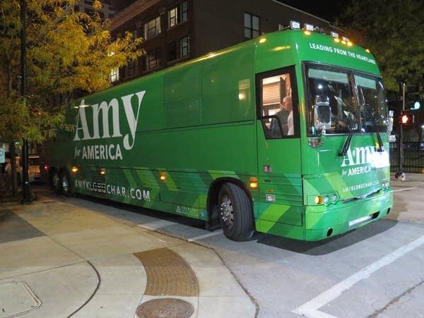 Sen. Amy Klobuchar's campaign bus