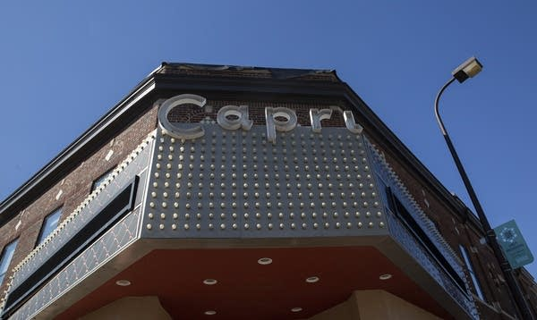 A Capri sign on the front of the building.