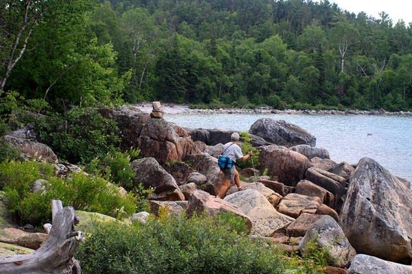 Walking on the rocks