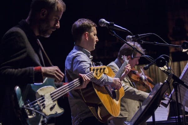 Chris Morrissey, Chris Eldridge, and Stuart Duncan.