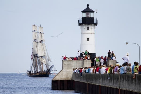 Tall ships visit Duluth in 2010.