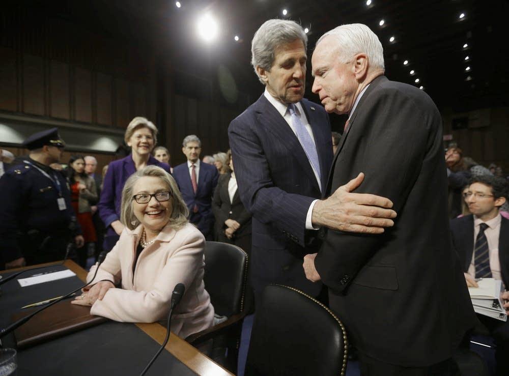 John Kerry, Hillary Clinton, John McCain