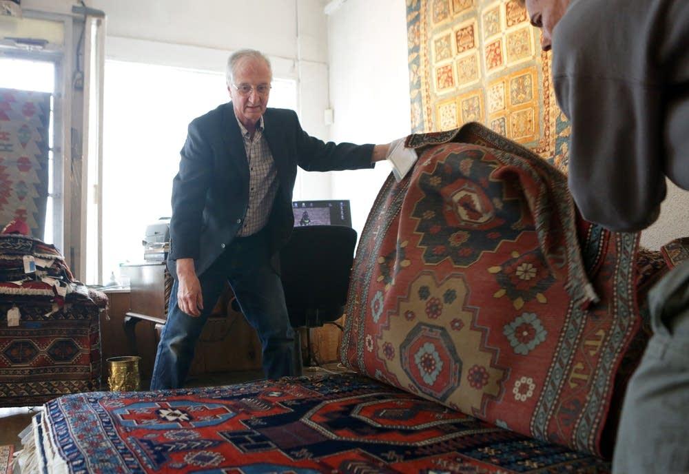 Sorting through rugs