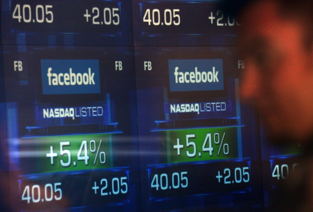 Facebook trading screens