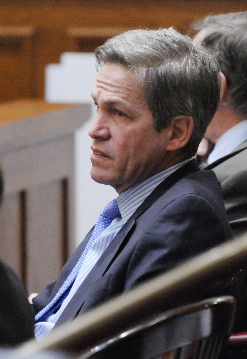 Norm Coleman listens to testimony