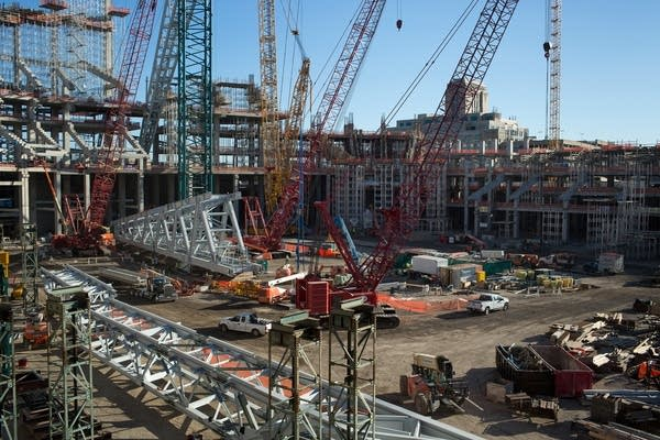 Vikings stadium construction