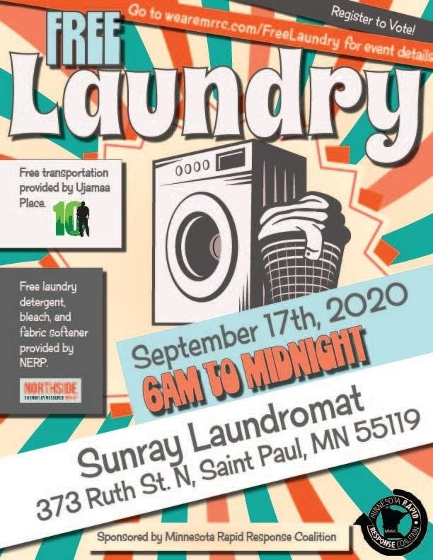 Free Laundry Day - Sept 17