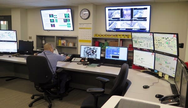 The control room of the University of Minnesota's new Main Energy Plant